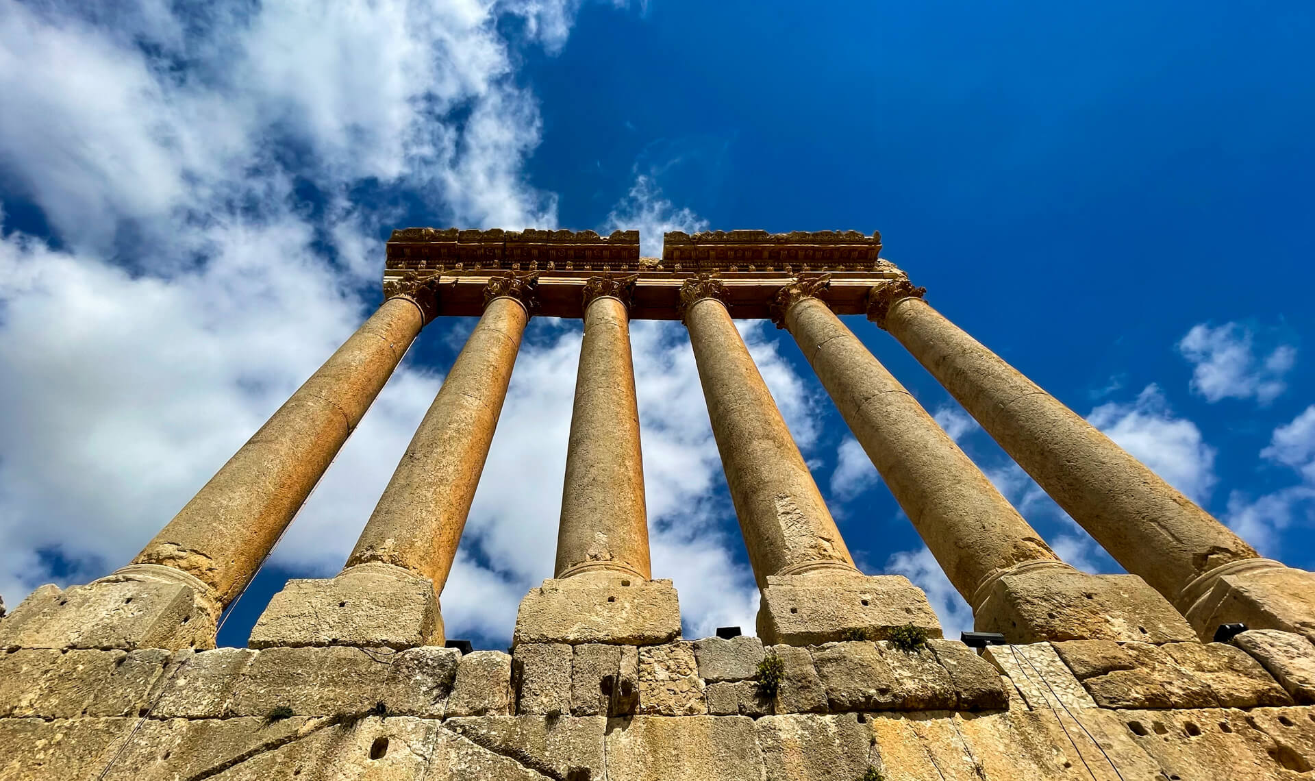 The colossal pillars of the Temple of Jupiter, once the largest Roman temple in the world