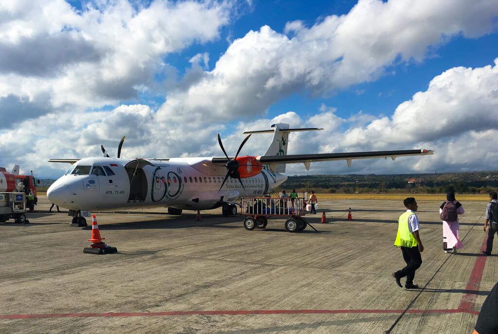 The turbo prop plane we took from Kupang to Alor