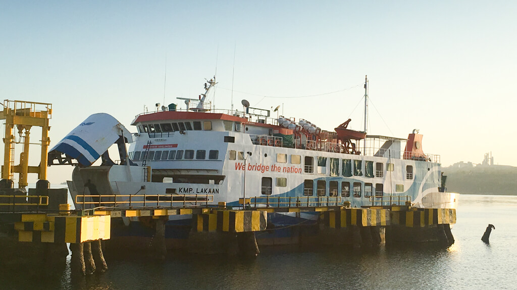 The ferry docked at the port of Kupang.