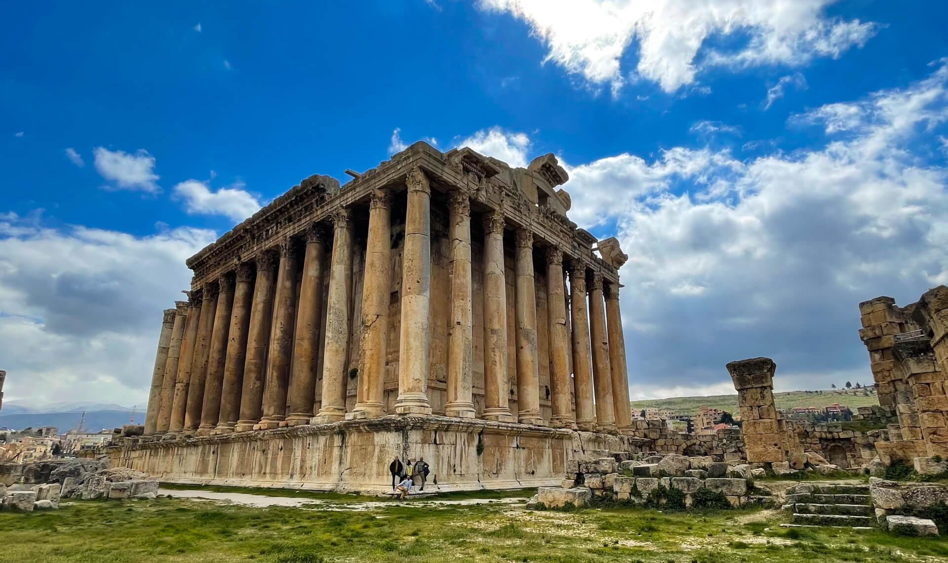 The huge rectangular temple of Bacchus