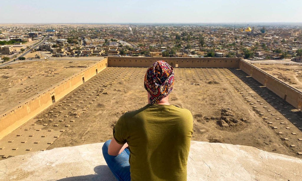 Me, looking out over the view from the top of the Malwiya Minaret