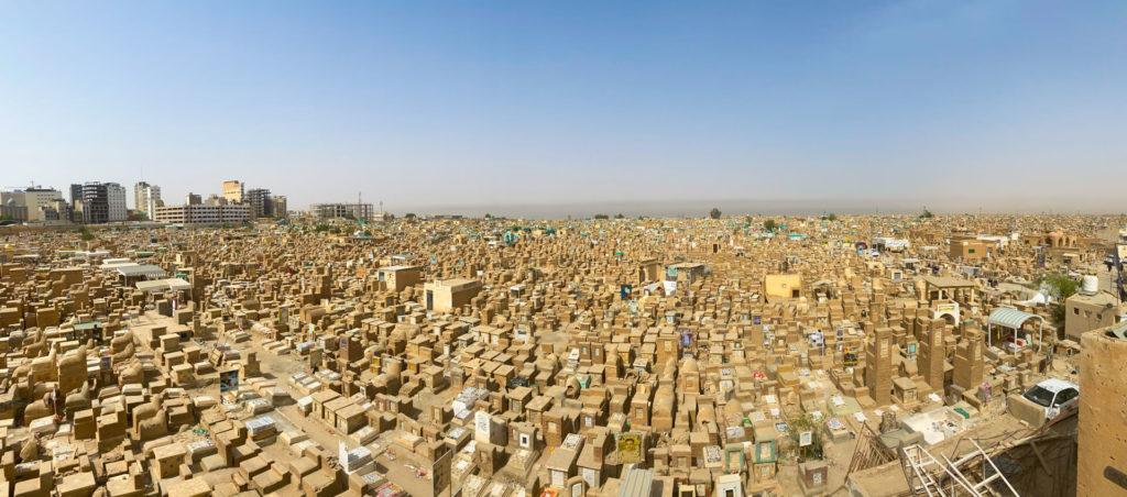 Ariel view of the Wadi-al-Salaam cemetery in Najaf
