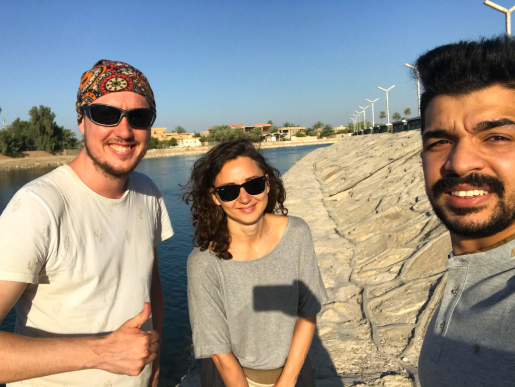 Me, Anna and Haydir by the Euphrates river in Hillah.